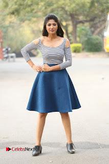 Telugu Actress Roshini Prakash Stills Short Dress at Saptagiri Express Release Press Meet  0268.JPG