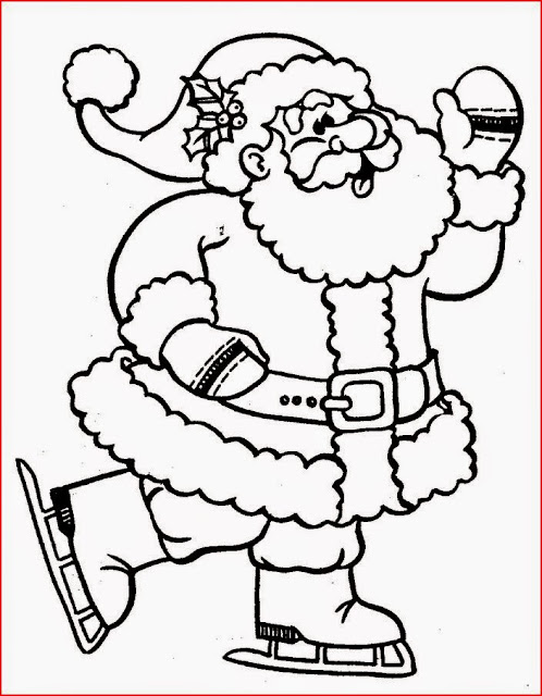 christmas coloring pages santa claus - photo#23