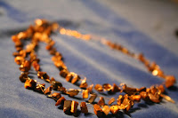 The eye of the jungle - tiger eye chips, gold wire, crochet :: All the Pretty Things