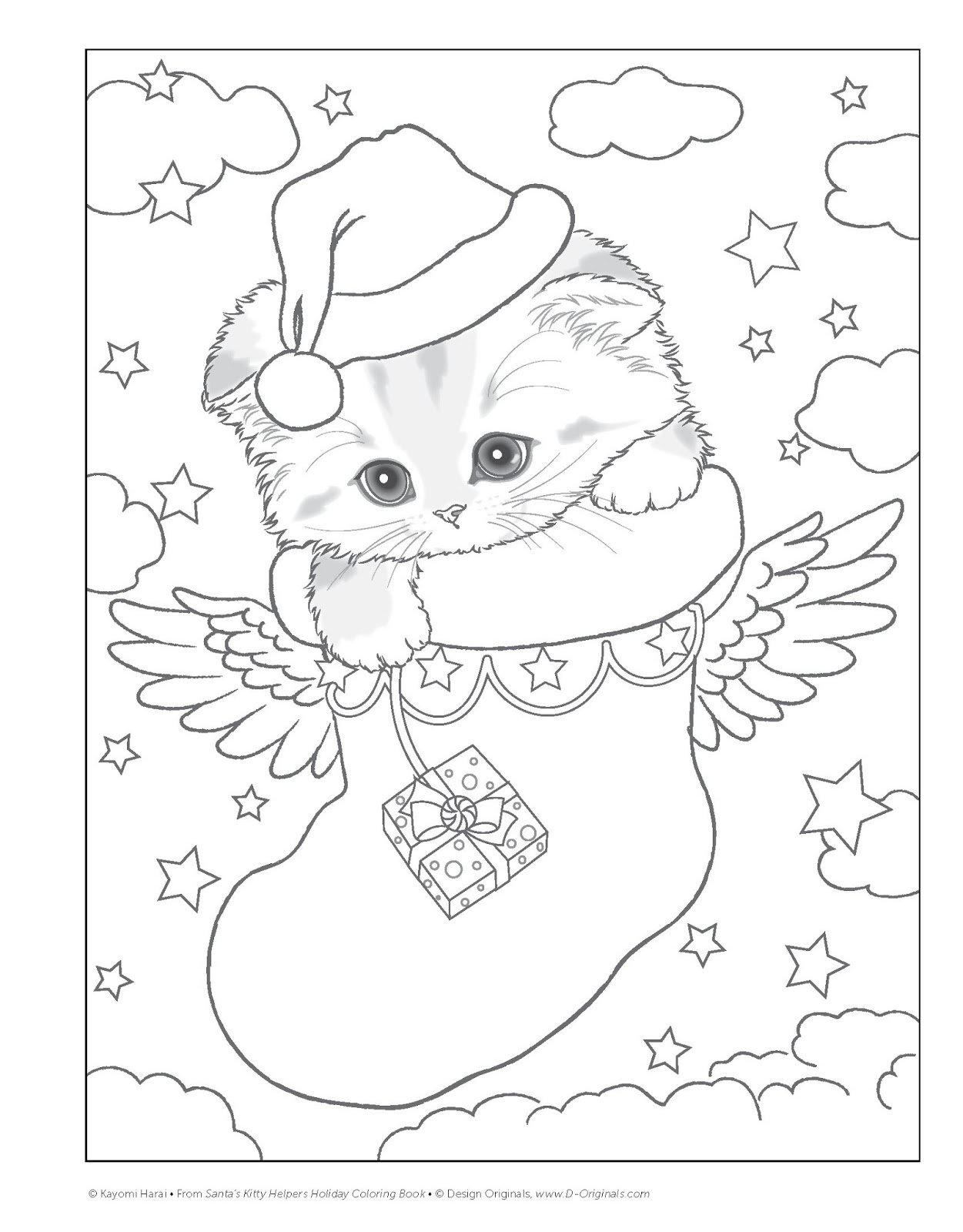 Green and Glassie: Santa\'s Kitty Helpers - Holiday Coloring Book