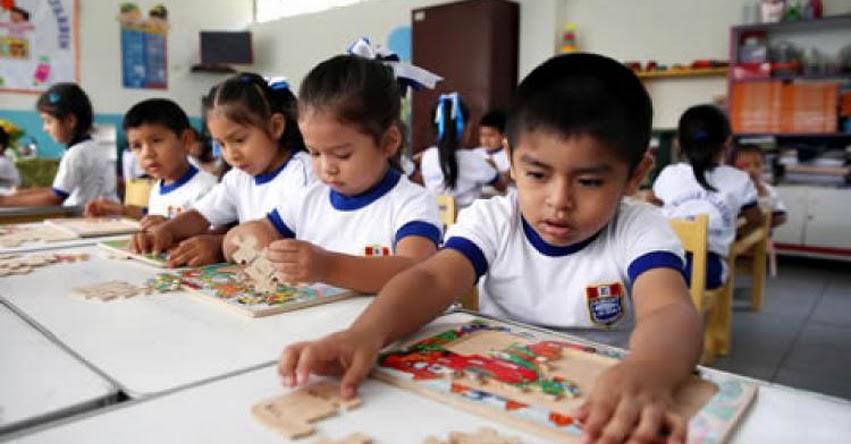 MATRÍCULA ESCOLAR 2018: Niños deben ingresar con 3 años a inicial y 6 años a primaria, informó el Ministerio de Educación - MINEDU - www.minedu.gob.pe