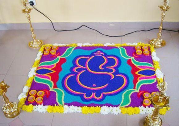 Rangoli for ganesh chaturthi