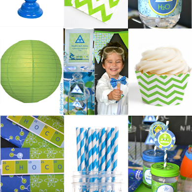 Blue & Green Mad Scientist Birthday Party Ideas