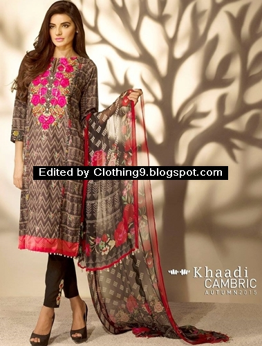 Khaadi Cambric Collection 2015 for Autumn