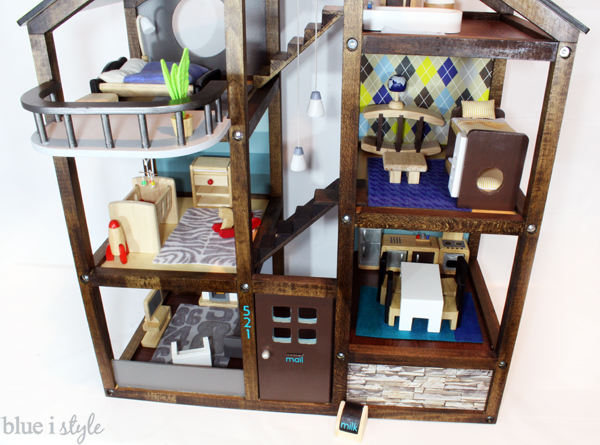 Customize an off-the-shelf wood dollhouse