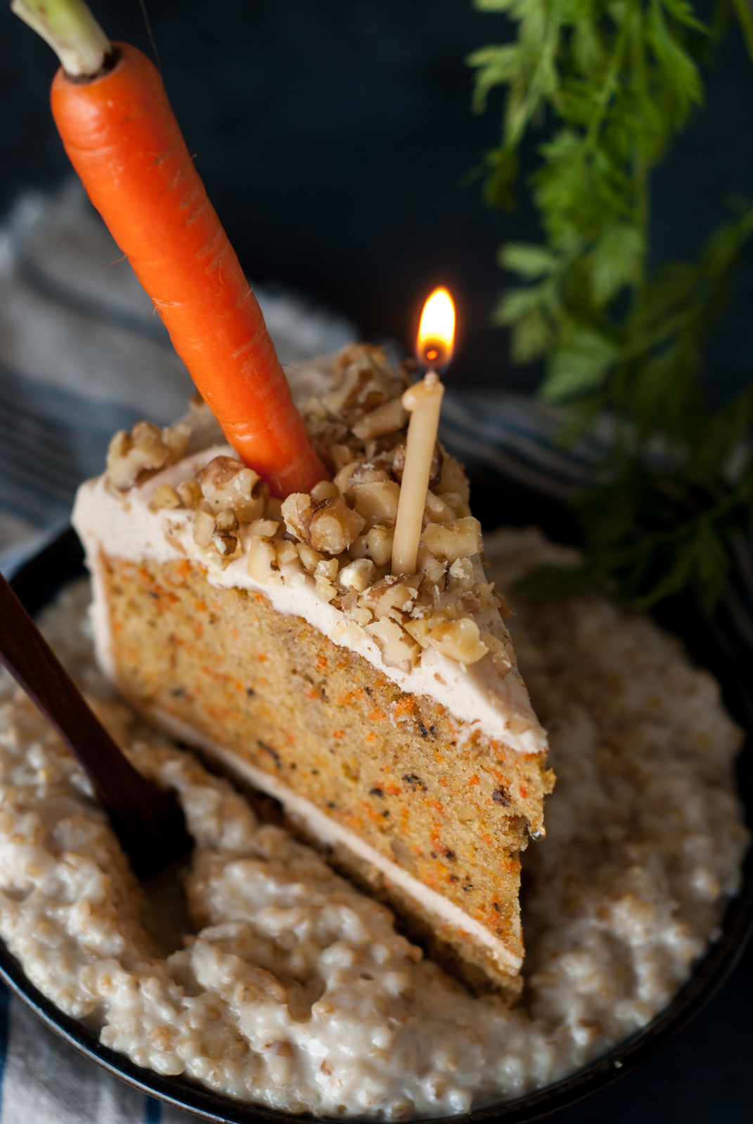 I Love Oatmeal And Carrot Cake Can Totally Improve This Recipe Create The Greatest Birthday Breakfast EverCarrot OatmealMY WAY