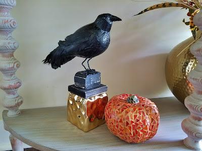 dollar store mosaic pumpkin diy