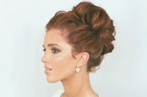 Incredible The Freckled Fox Wedding Hair Week High Curly Bun By Emily Meyers Short Hairstyles Gunalazisus