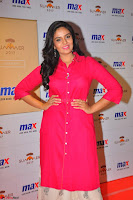 Sree Mukhi in Pink Kurti looks beautiful at Meet and Greet Session at Max Store (63).JPG