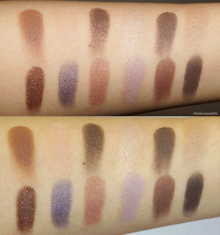 Laura Mercier Extreme Neutrals Eyeshadow Palette Swatches: Flash ON and OFF