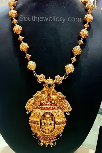 Temple jewellery pendant jewellery designs temple jewellery pendant mozeypictures Choice Image