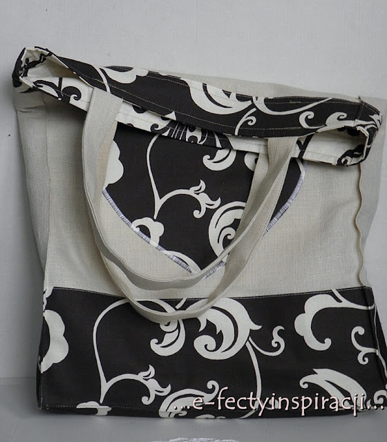 llniana torba, torba z lnu, jak uszyć torbę, ekotorba, torba na lato, shopperka, jak uszyć?, len, bawełna, pomysł na prezent, prezent na Dzień Matki, e-fectyinspiracji