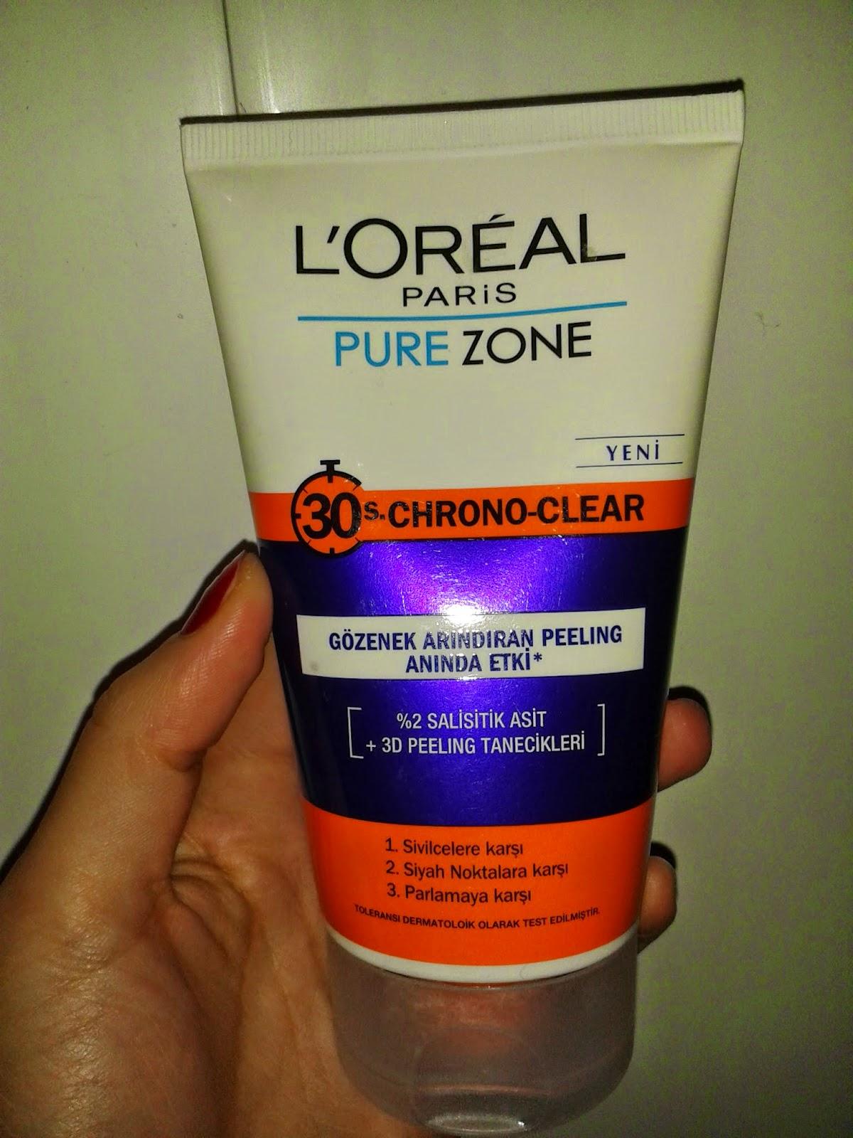loreal pure zone chrone clear peeling