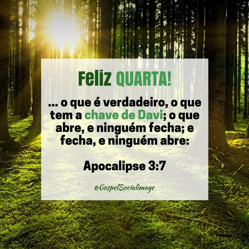 Imagem Feliz Quarta Feira Abençoada - Apocalipse 3.7