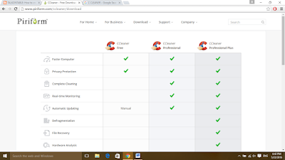 ccleaner free, ccleaner pro, ccleaner pro plus
