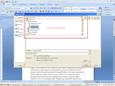 Cara Convert File Ms Word Ke PDF Dengan Mudah