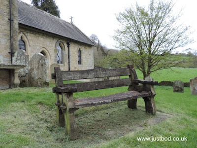Old bench at St Mary the Virgin, Ebberston, Yorkshire