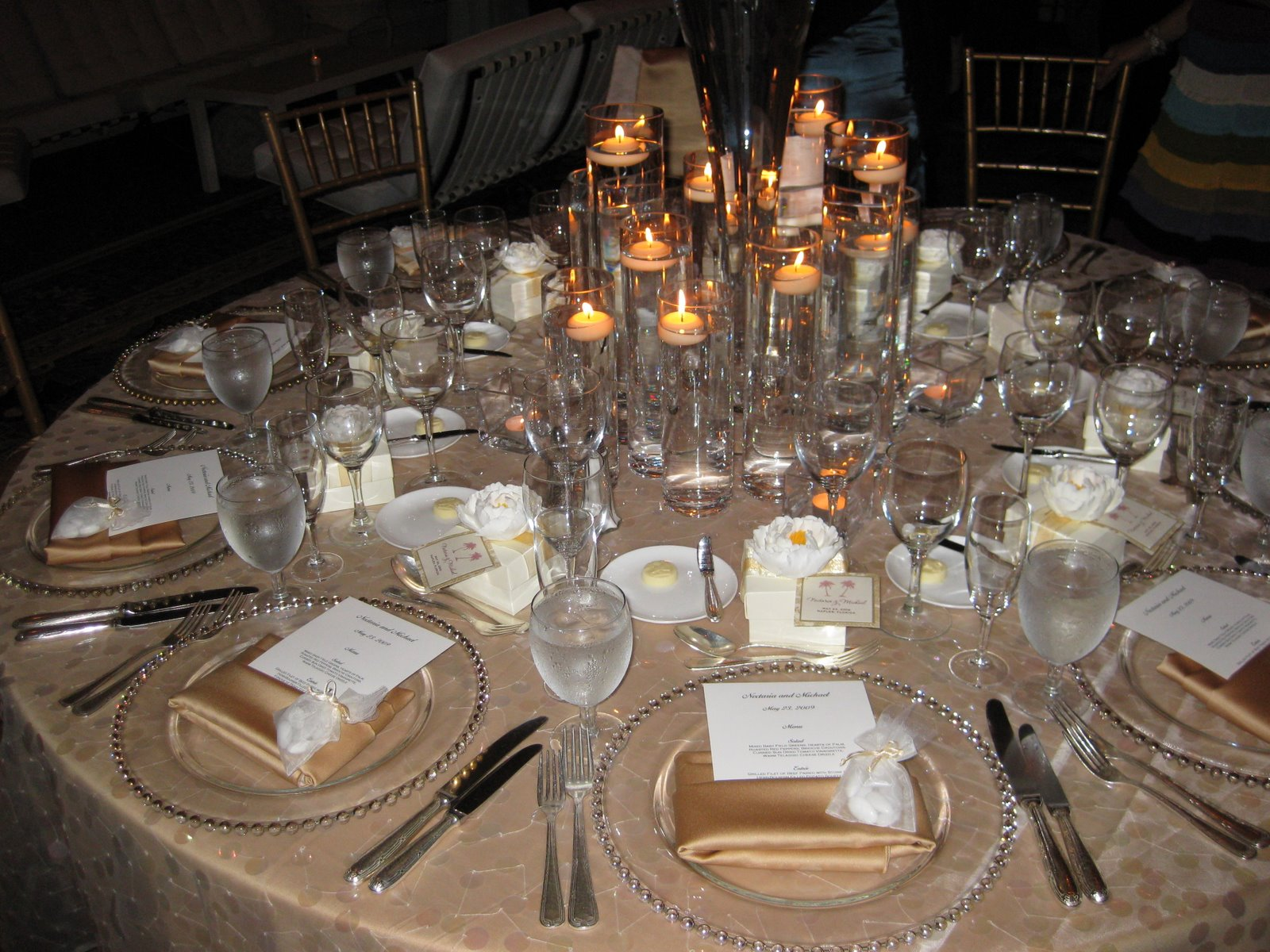 Wedding Reception Table Settings | Car Interior Design