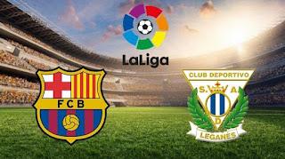 اهداف وملخص مباراة برشلونة وليجانيس 3-1 الدوري الاسباني اليوم 20/1/2019