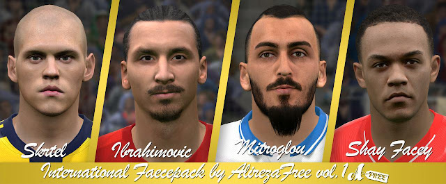 PES 2016/17 International Face Pack vol. 1 by AlirezaFree