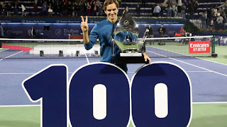 Federer beats Tsitsipas in Dubai to claim 100th title