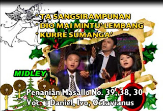 Lirik lagu Penanian Masallo No.39,38,30. Ta sangsirampunan, Dio Mai Mintu' Lembang, Kurre Sumanga'