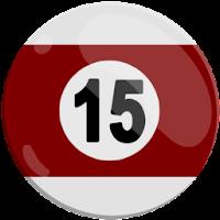 fifteen of strips pool ball