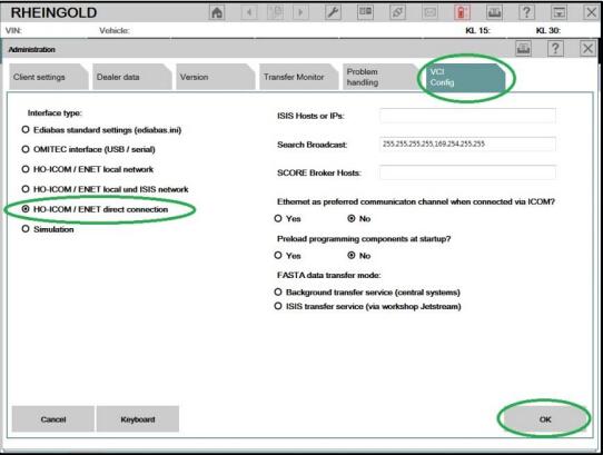 How To Configure Bmw Icom Rheingold On Enet Cable Obd365 Com