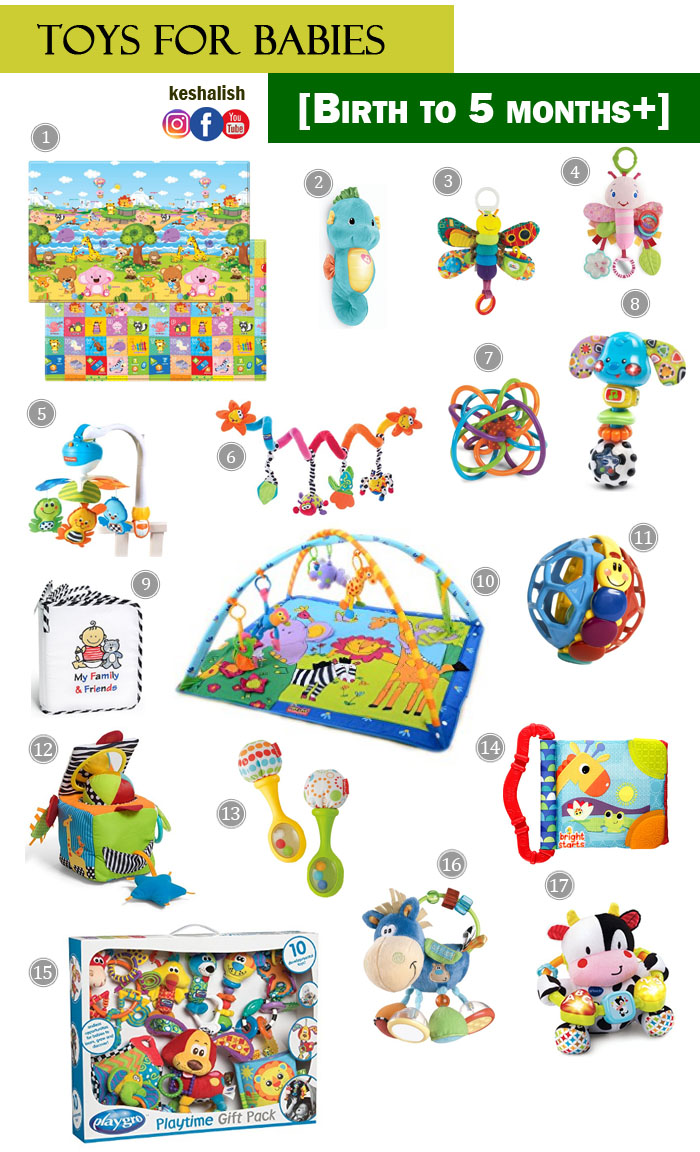 Keshalish Top Toys For Babies Toys For Newborn To 5 Month Olds