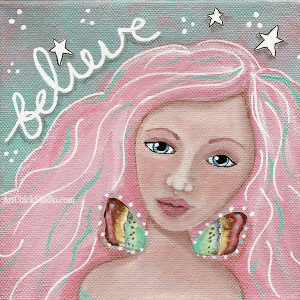 Believe Fairy Mixed Media