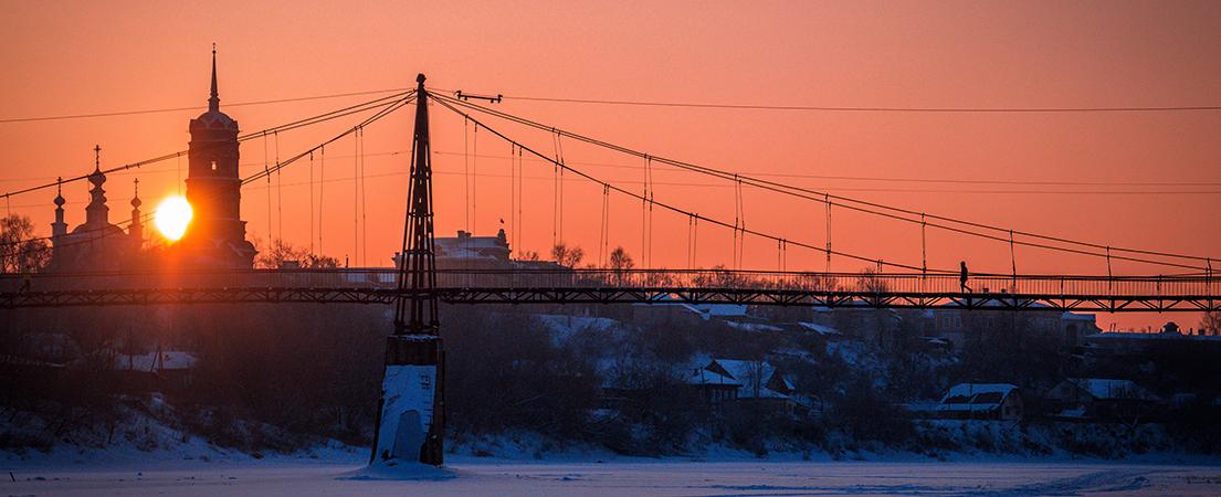 Зимний закат в г. Кунгур, Пермский край