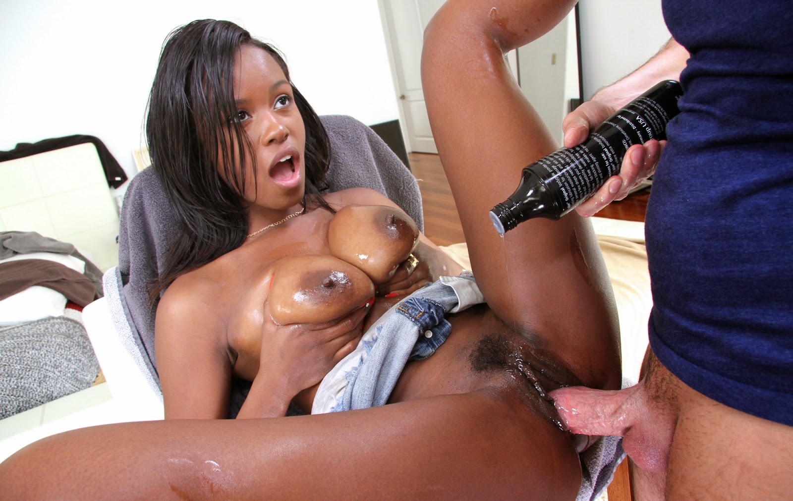 Hot black chicks love huge white dicks