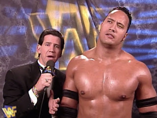 WWE / WWF - In Your House: A Cold day in Hell - Todd Pettengill interviews Rocky Maivia