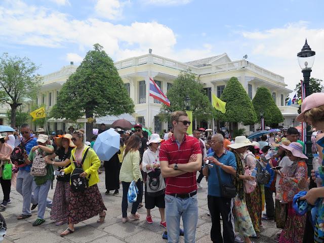 Turistas en el Palacio Real de BKK