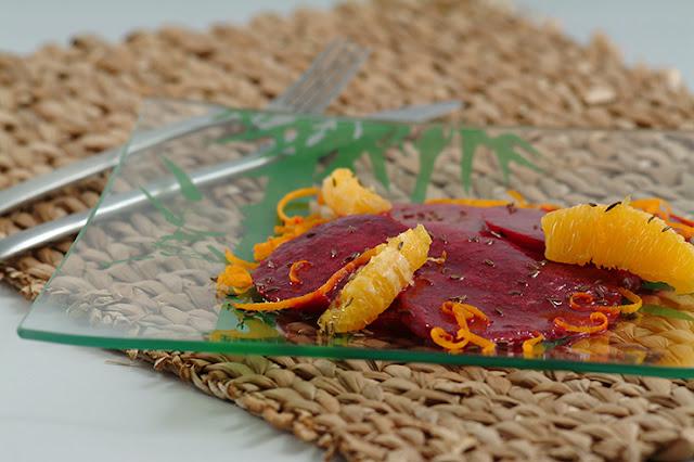 Salata de sfecla cu portocale