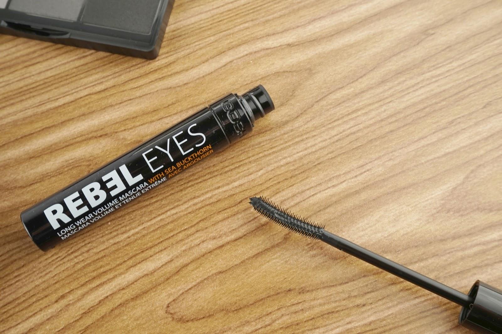 GOSH Cosmetics core products review rebel eyes long wear volume mascara