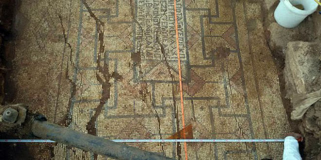 Early Byzantine mosaic floor discovered in Syria's Hama