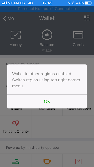 WeChat Pay: other regions enabled