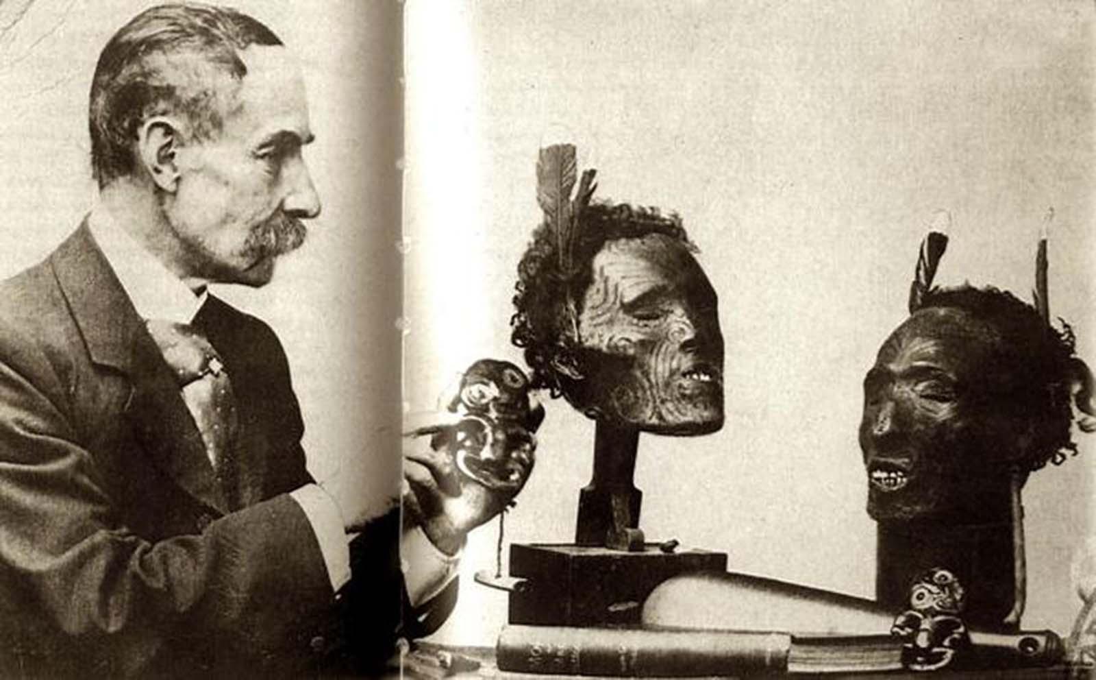 Continuando con la escritura después de su retiro, volvió a su interés en los tatuajes y escribió dos libros relacionados con su tiempo en Nueva Zelanda, Moko o Maori Tattooing en 1896 y Pounamu: Notes on New Zealand Greenstone.