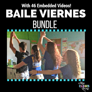 Baile viernes Bundle - dancing in Spanish class