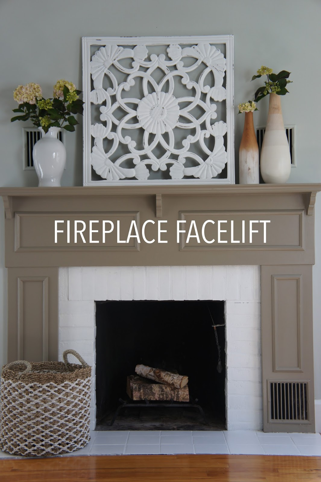 project house to home fireplace and closet makeover with behr paint