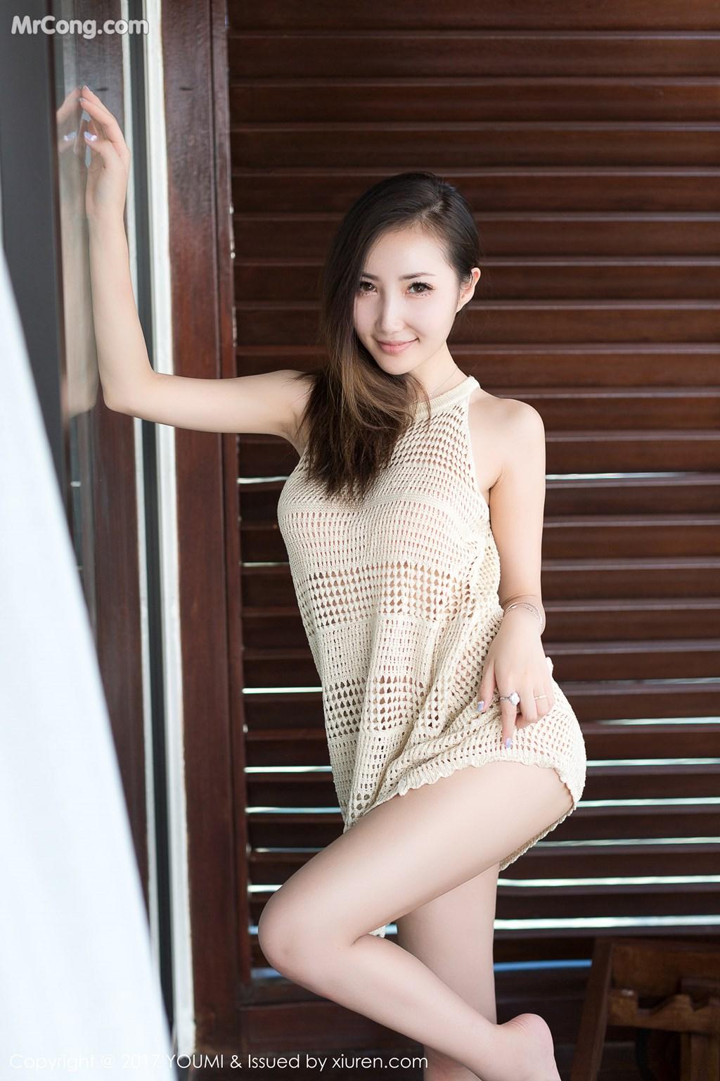 Image YouMi-Vol.100-Yumi-MrCong.com-006 in post YouMi Vol.100: Người mẫu Yumi (尤美) (42 ảnh)