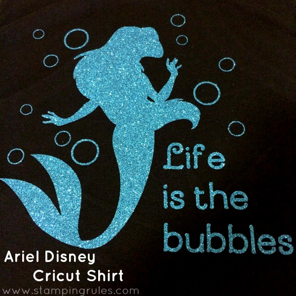 Stamping Rules Day 131 Ariel Disney Cricut Shirt