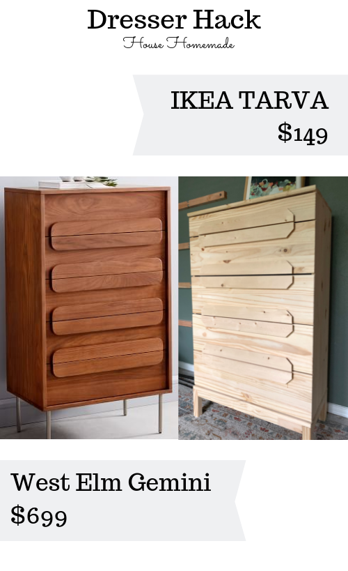 We created a west elm knock off with an IKEA dresser! It saved us $550, so score! Come see how we got the look for less.| House Homemade