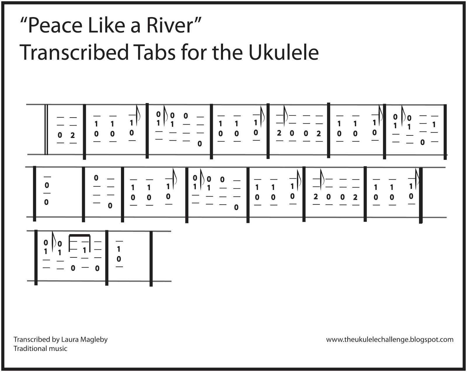 The Ukulele Challenge Peace Like A River