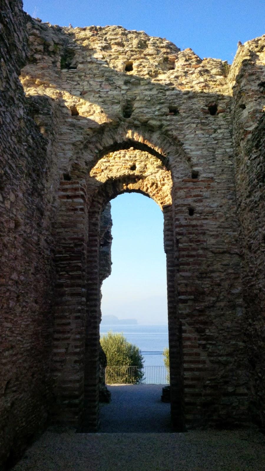 Lake Garda seen from Grotte di Catullo