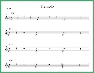 contoh notasi tremolo