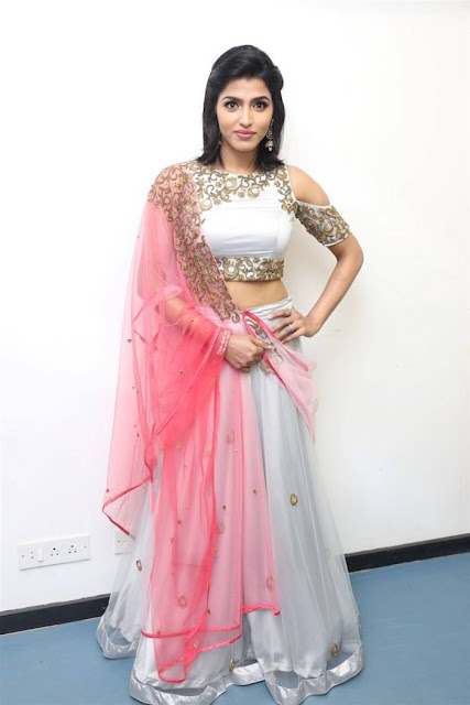 Dhansika in Lehenga at Rani Movie Audio Launch Event