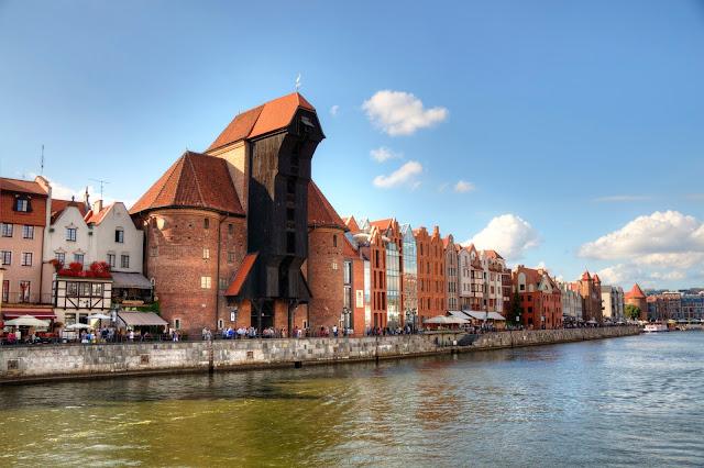 żuraw w centrum Gdańska