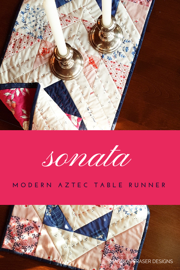 Sonata Modern Aztec Table Runner by Shannon Fraser Designs